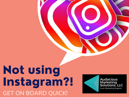 You're not using Instagram?! GET ON BOARD QUICK!