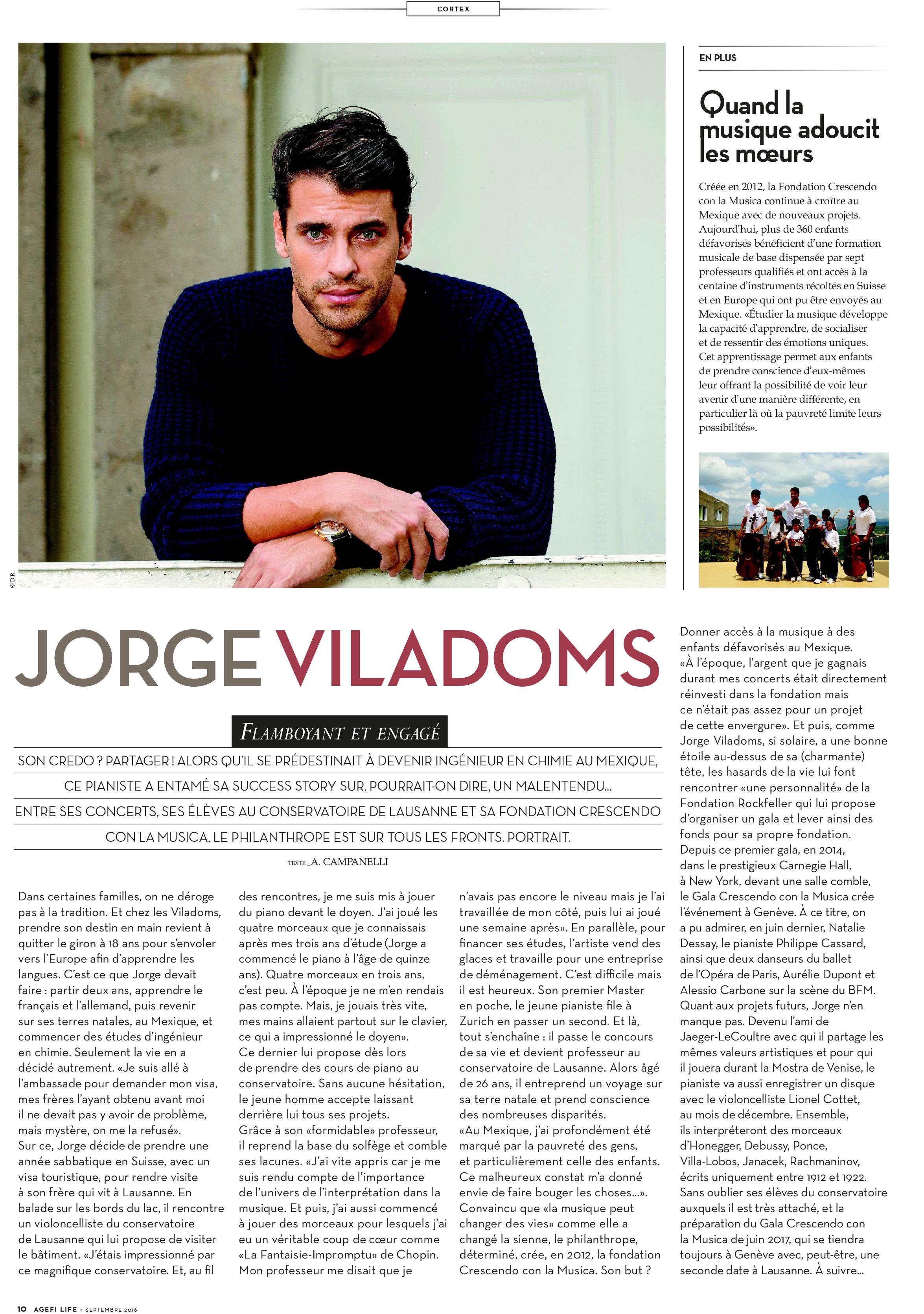 Article Agefi Life.Jorge.Jorge