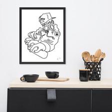 Loscar Tag Artist framed poster