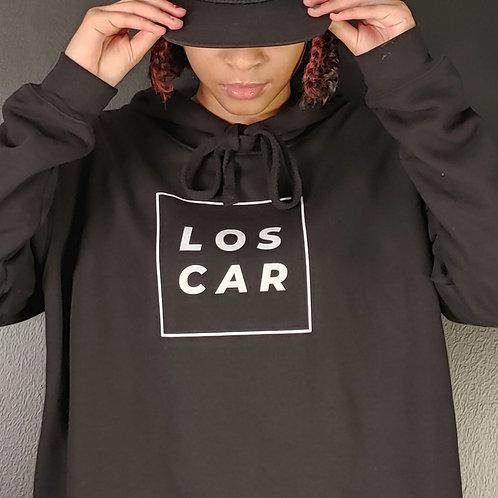 "Crop Hoodie ""Loscar square logo"""