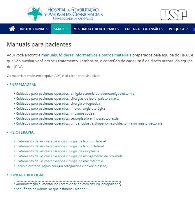 Hospital de Reabilitação de Anomalias Craniofaciais da Universidade de São Paulo