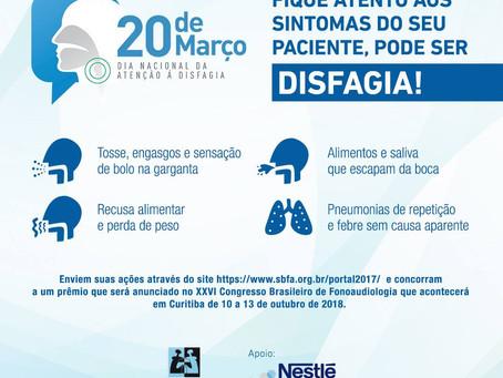 Dia Nacional da Atenção à Disfagia - 20 de Março