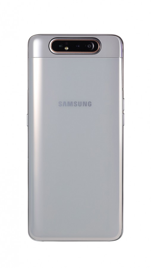 Galaxy A80 in Ghost White