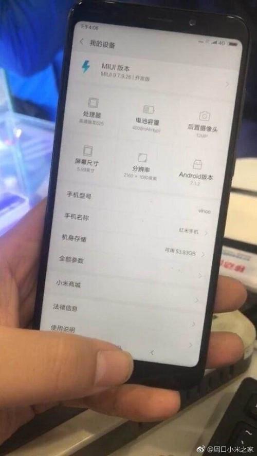 Xiaomi Redmi Note 5 live image