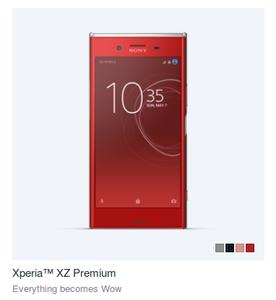 Red Sony Xperia XZ Premium