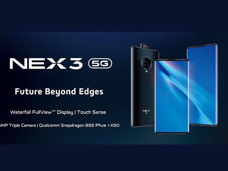 Ανακοινώθηκε το Vivo NEX 3 5G με SD855+ και οθόνη Waterfall
