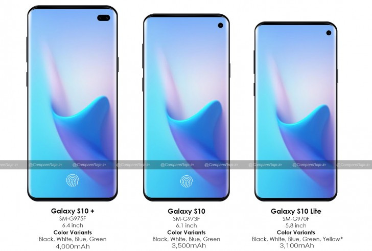 Samsung Galaxy S10 line prices and colors