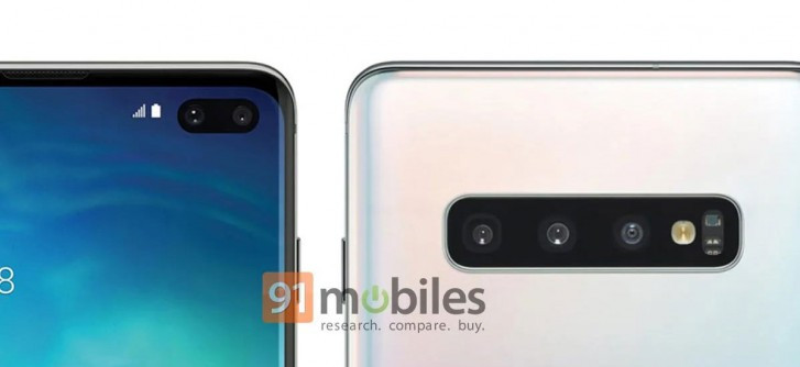 Samsung Galaxy S10+ official render