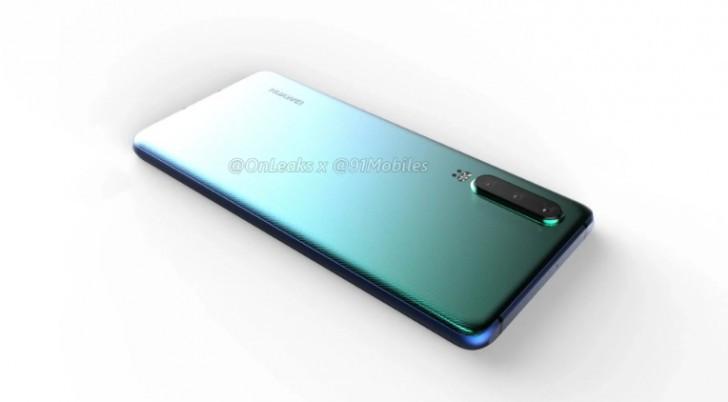 Huawei P30 CAD render