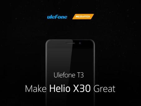 Το Ulefone T3 διαθέτει 8GB ram και τον ισχυροτερο MediaTek, Helio X30