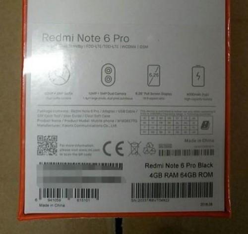 Xiaomi Redmi Note 6 Pro retail box