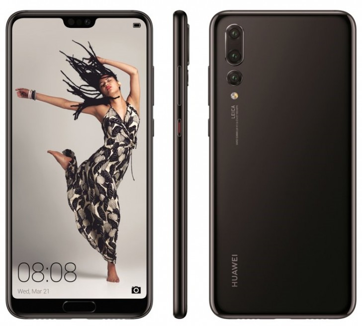 Huawei P20 Pro press render