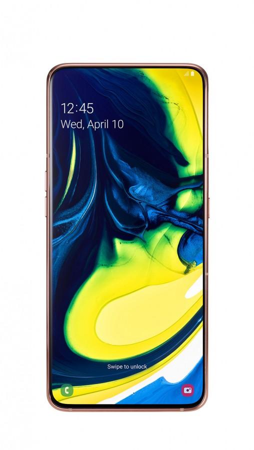 Galaxy A80 in Angel Gold
