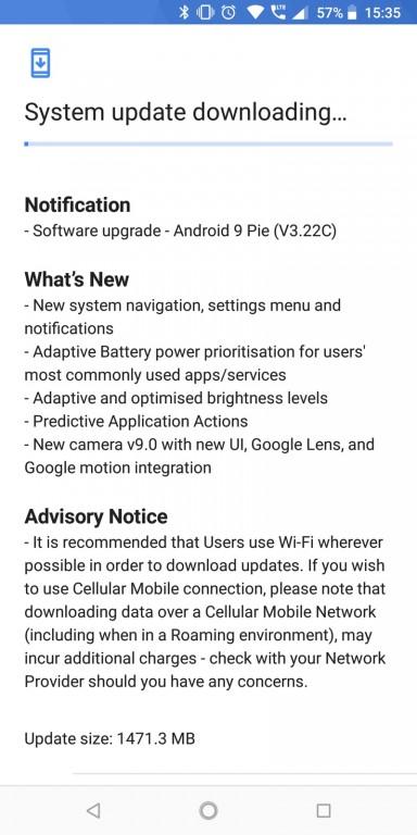 Nokia 7 Plus Android Pie update