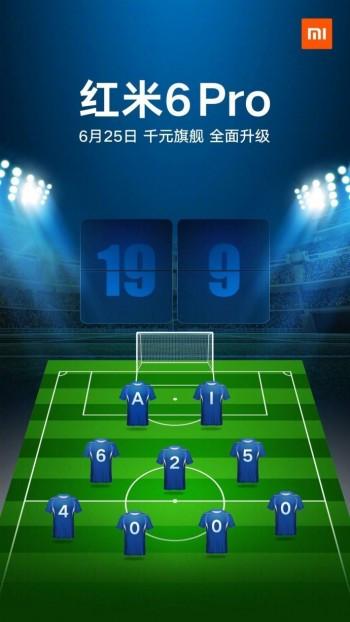 Xiaomi Redmi 6 Pro launch date