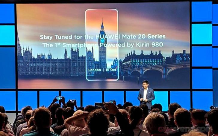 Huawei Mate 20 launch date announced