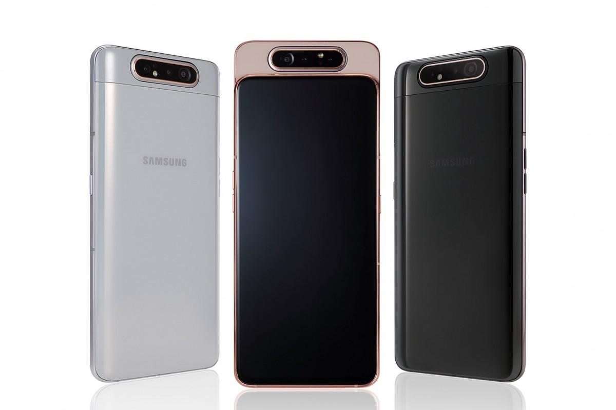 Galaxy A80 color options