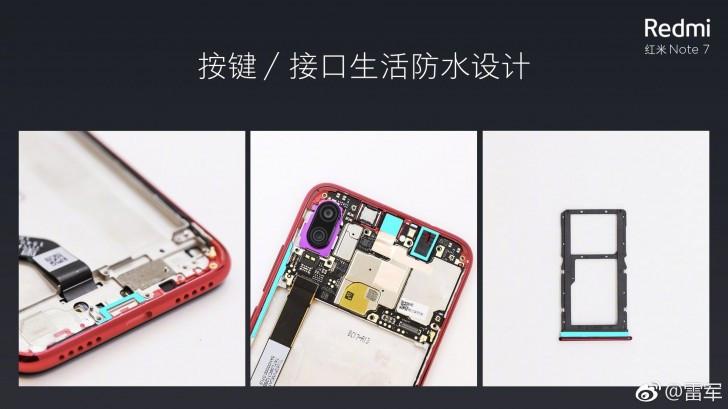 Redmi Note 7 waterproof design