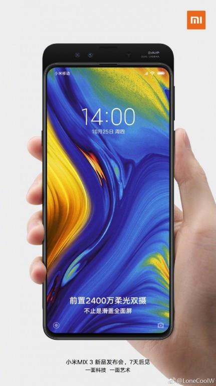 Xiaomi Mi Mix 3 press render