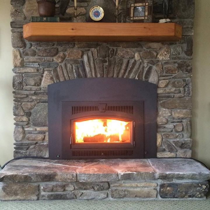 Custom arched fireplace surround #handmade #mahaffymetalworks #madeinusa #metal #fireplace