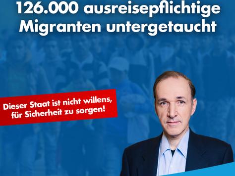 126.000 ausreisepflichtige Migranten untergetaucht