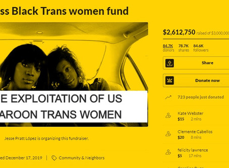 Homeless Black Trans women fund organized by Jesse Pratt López