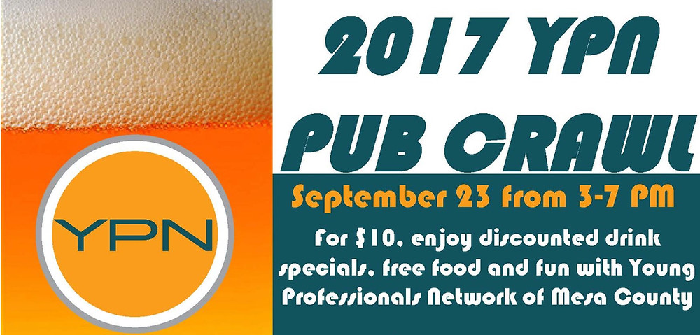Register for YPN Pub Crawl Sept. 23 here, $10