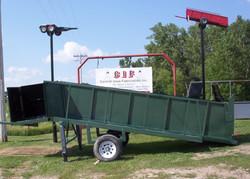 portable green loading chute