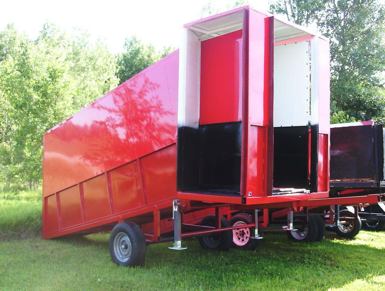 covered loading chute