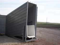 stationary loading chute