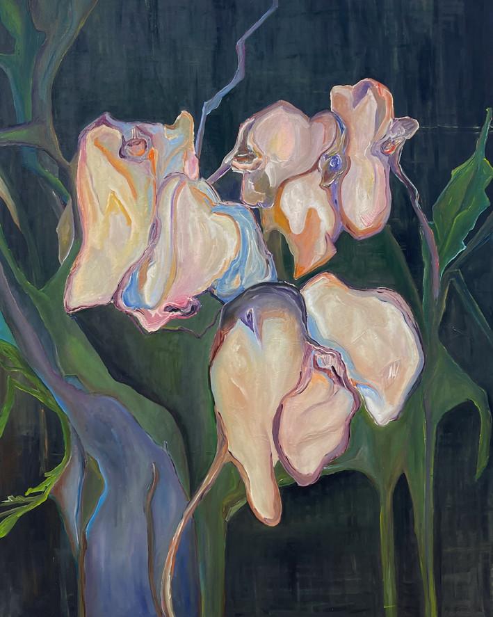 #2, série negro, pintura a óleo em tela