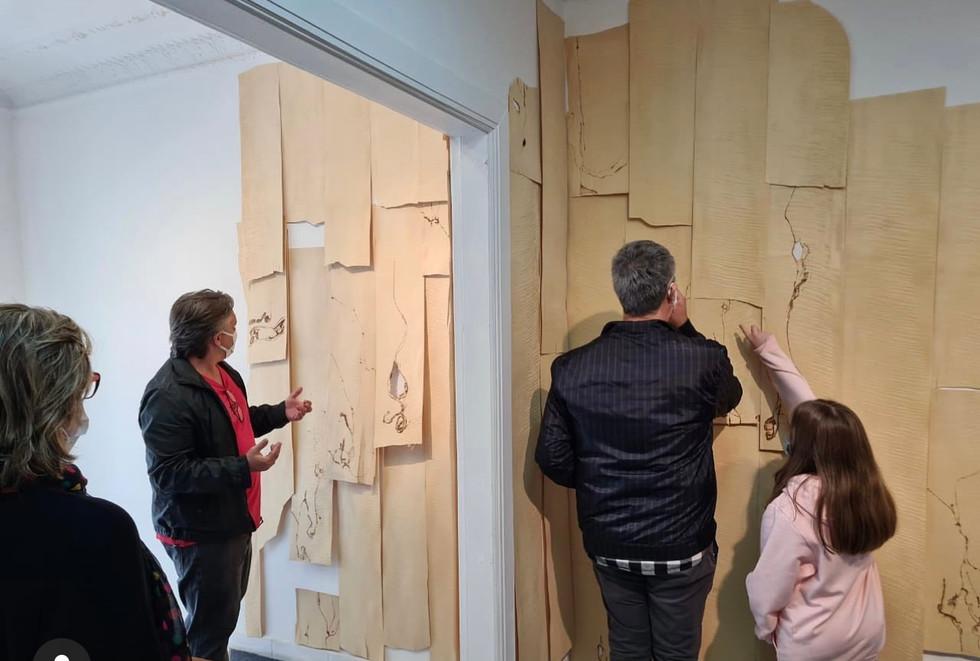 Pirografia sobre folha de madeira
