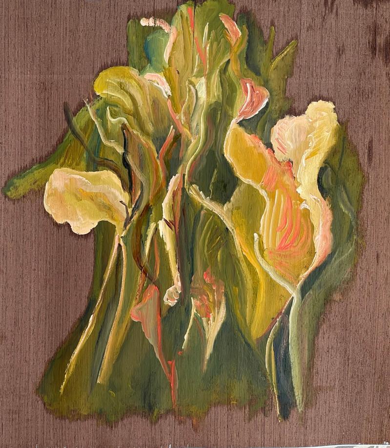 Série Crise, Pintura a óleo sobre folha de madeira