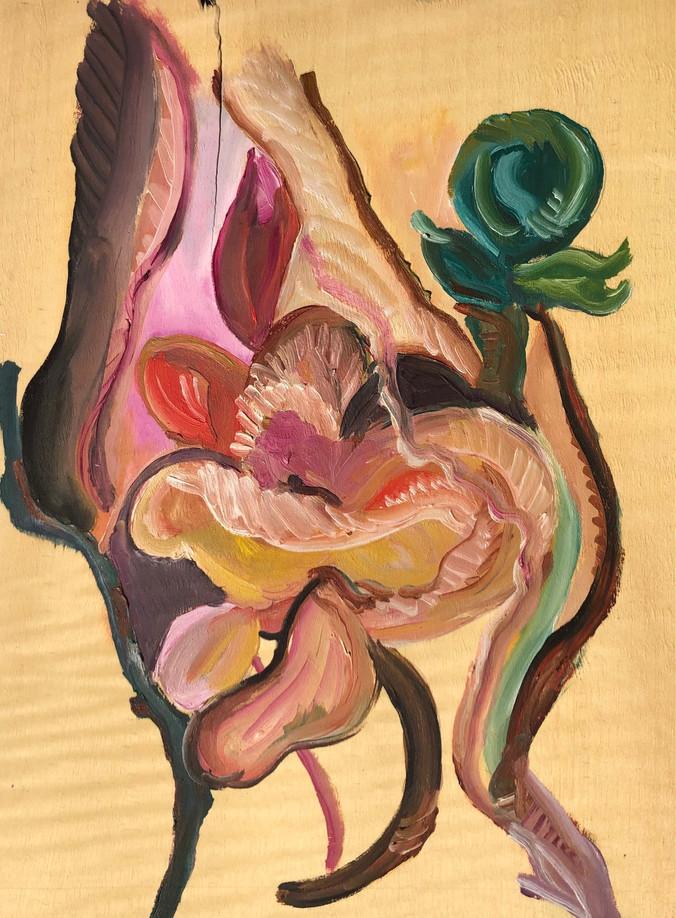 Serie Crise, Pintura óleo sobre folha de madeira