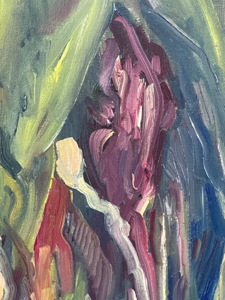 detalhe pintura óleo sobre tela