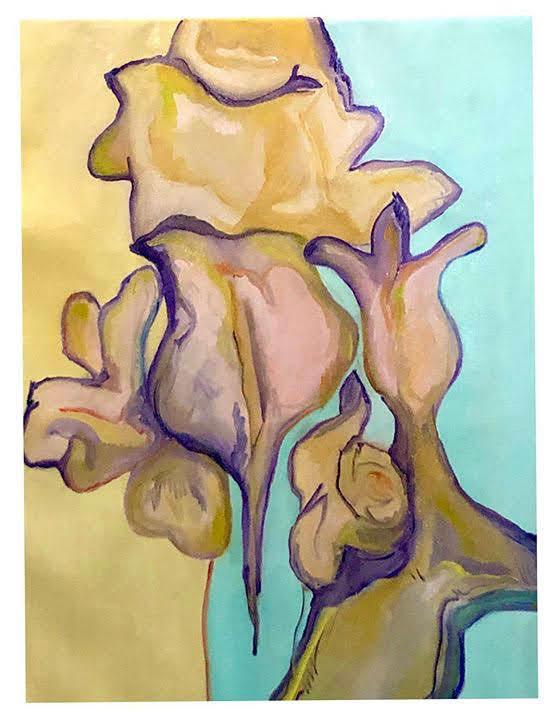 Flor V, óleo sobre tela