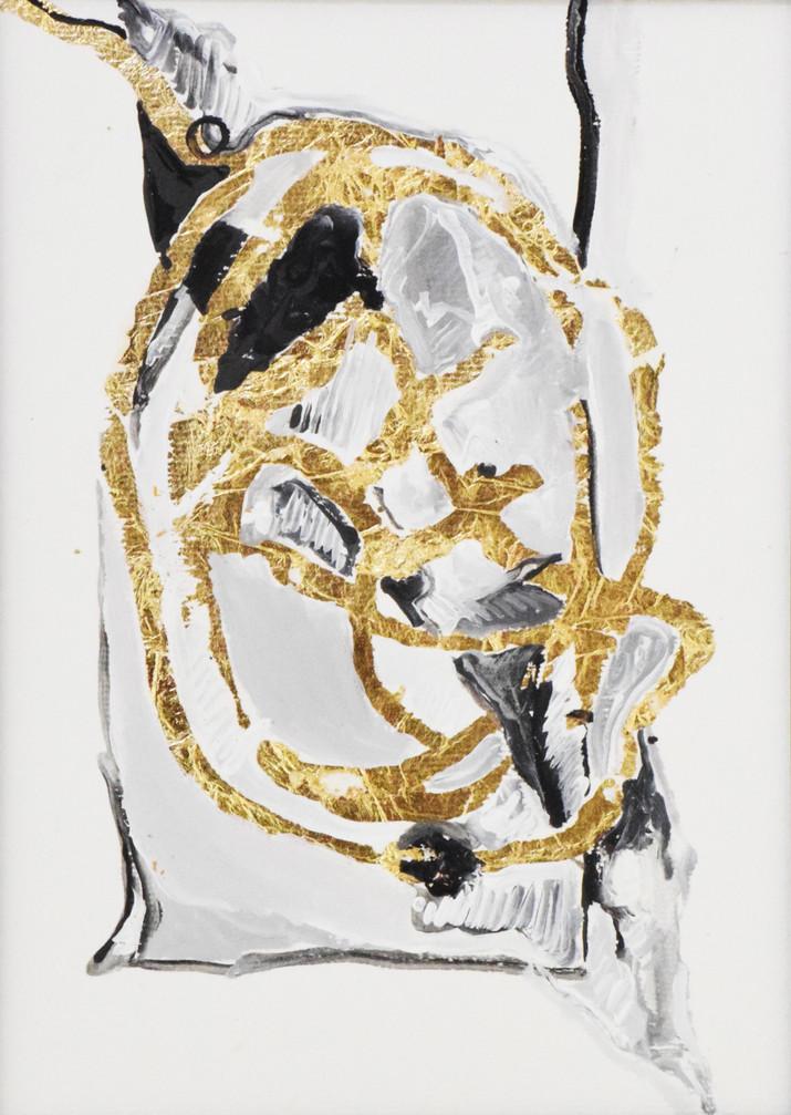 Digito II, Colagem e folha de ouro sobre papel