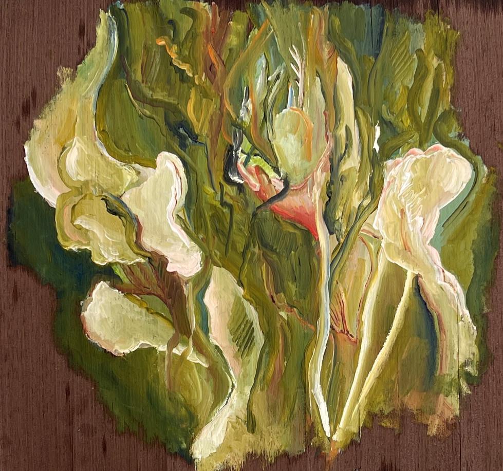 Serie Crise, Pintura a óleo sobre folha de madeira