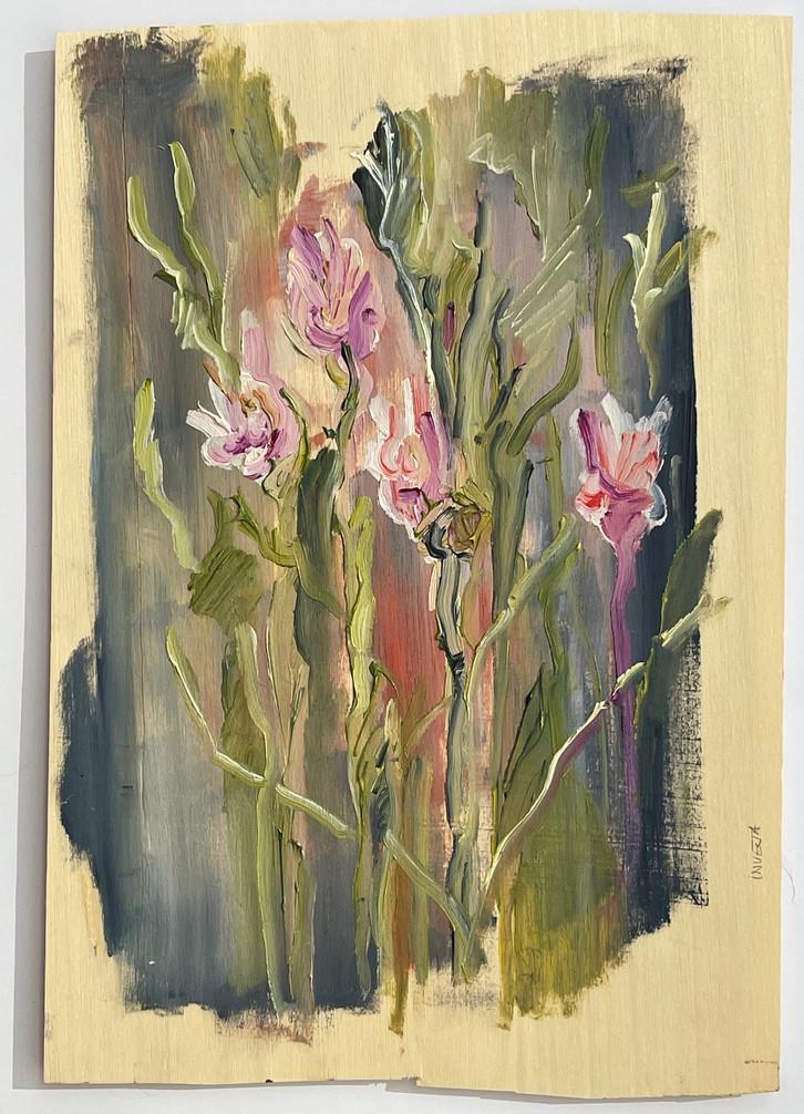 sem titulo, pintura óleo sobre folha de madeira