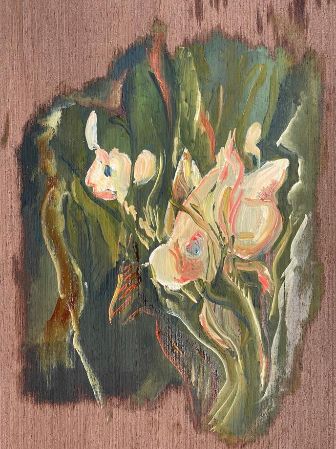 Série Crise, Pintura a óleo sobre foha de madeira