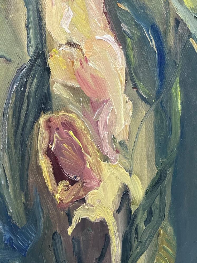detalhe pintura õleo sobre tela