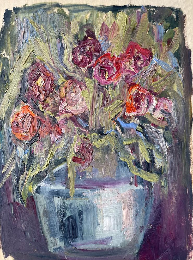 Vaso II, pintura óleo sobre folha de madeira