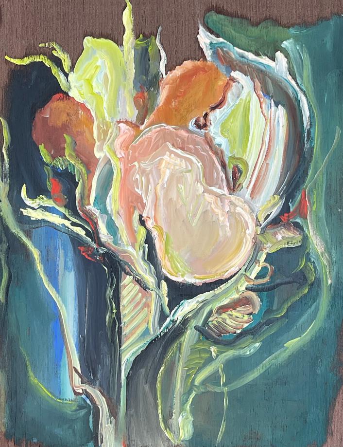Série Crise, Pintura á óleo sobre folha de madeira