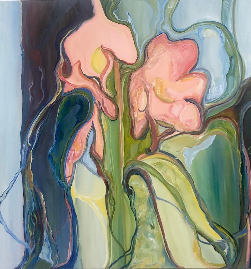 Flor, óleo sobre tela