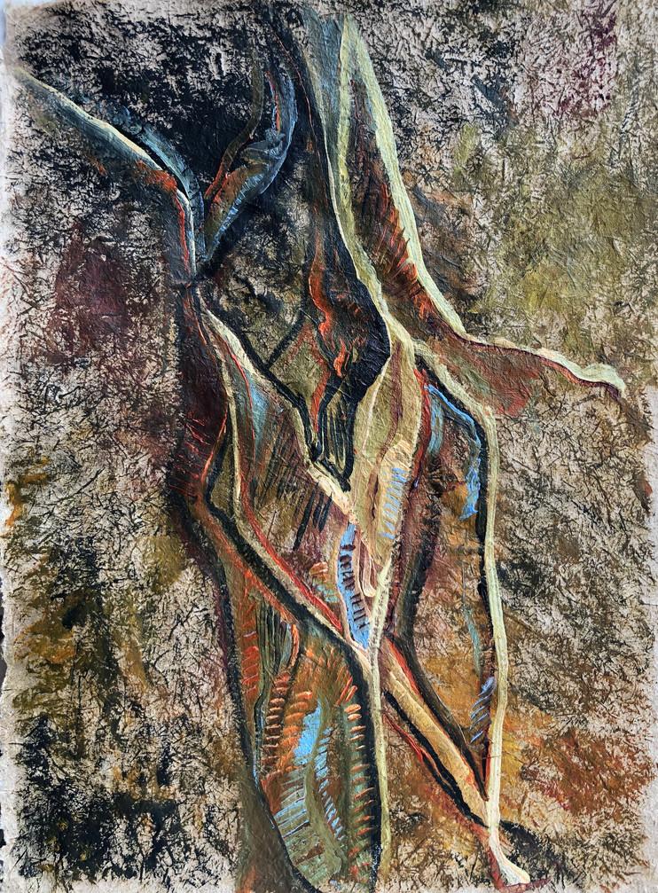 Sem titulo, Pintura a óleo sobre papel reciclado