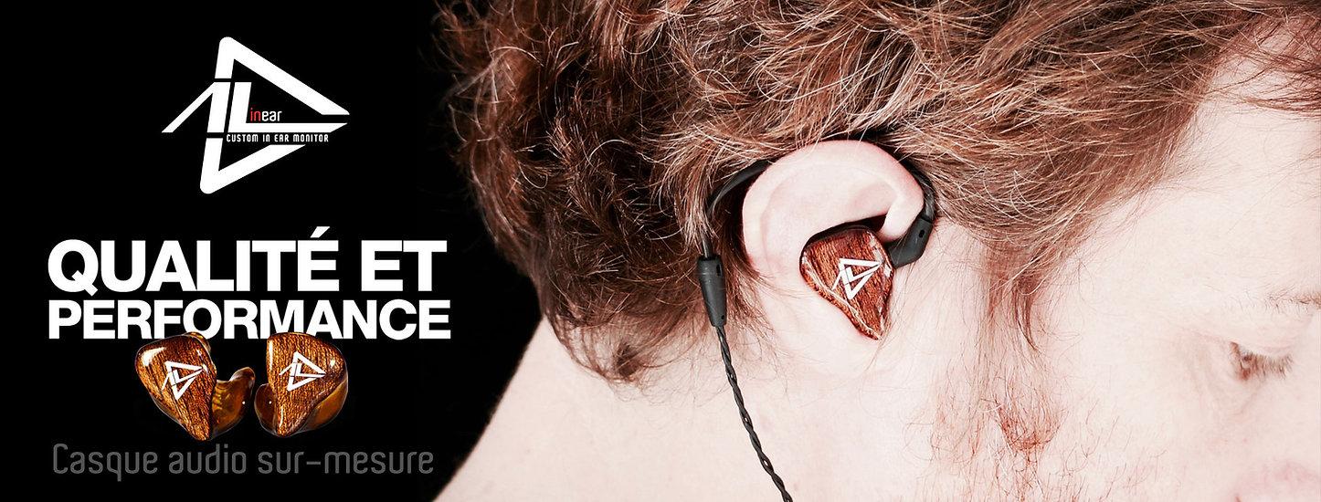 AL IN EAR MONITOR Casque audio sur mesure moulé français clisson