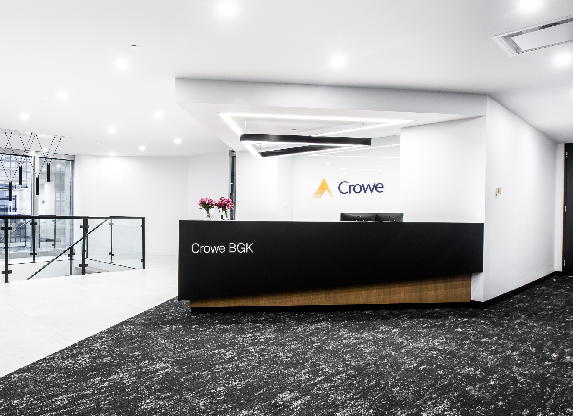 reception desk black wood