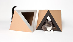Octacat cat house silver and black