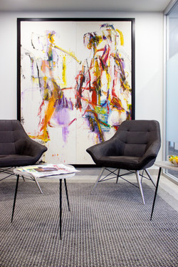 office interior design with chairs