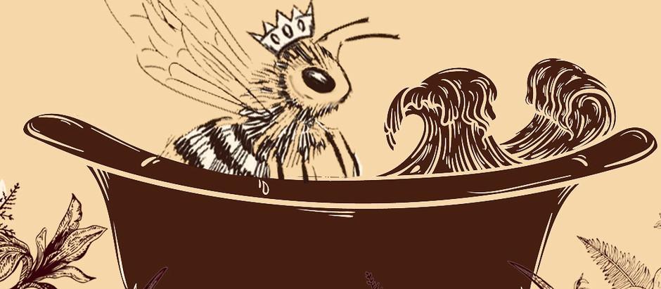 Crystal Charged Bee Bath